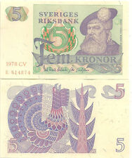 SWEDEN - 5 KRONOR 1978  aUnc currency