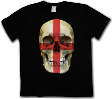 CLASSIC ENGLAND Skull FLAG T-Shirt - Skull Banner UK Great Britain T-Shirt