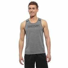 New Reebok Crossfit CF Les Mills Body Combat Compression Men's Tank Vest Pump