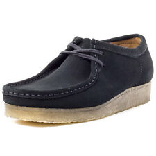 Clarks Originals Wallabee Uomo Wallabee Black Suede nuovo Scarpe