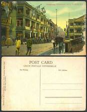 Hong Kong China Old Postcard Independence Day Queens Road Street kuomintang Flag