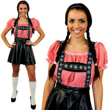 WOMANS DELUXE BAVARIAN COSTUME LEDERHOSEN GERMAN OKTOBERFEST FANCY DRESS COSTUME