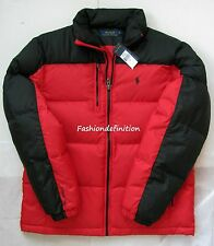 New Polo Ralph Lauren Men Red Black Winter Snow Quilted