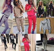 Women Long Sleeve Jogging Tracksuit Ladies Casual 2PCS Sets Sportsuit Pullover