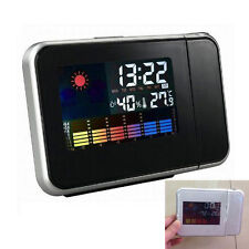 Digital LCD LED Time Snooze Alarm Clock Projecting Weather Temperature Backlight