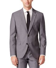 Men Dress Slim Fit Suit Hugo Boss Mini Grid C-Jeffrey C-Simmons Gray 50309938021