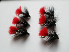 Hot Tail Zulu Trout Buzzers Trout Lures Dry Fly Fishing Trout Flies# 12 hooks