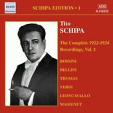 The Complete 1922-1924 Recordings Vol. 1 - SCHIPA TITO [CD]