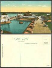 South Africa Old Postcard DURBAN OCEAN BEACH Shelters Street Scene A. Rittenberg