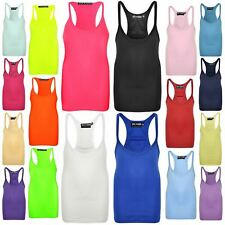 Kids Girls Vest Stylish Racer Back Fashion Top Tank Tops T Shirt New Age 5-13 Yr