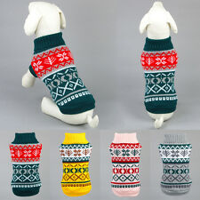Puppy Dog Sweater Knit Clothes Snowflower Pet Cat Coat Apparel Jumper 6 Size