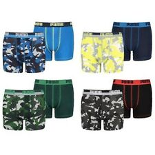 Puma Children Boys Kids Underpants Boxer 2 Camouflage Limited colours new