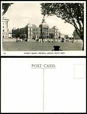 South Africa, Pretoria, Church Square Looking South West Old Real Photo Postcard