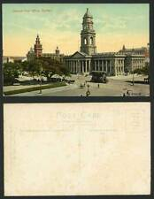 South Africa Durban General Post Office, TRAM Tramway, Street Scene Old Postcard