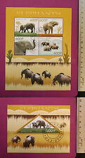 Wild Animal ELEPHANTS 2014 CONGO perf. Sheetlet CTO stamped Excellent NH UK