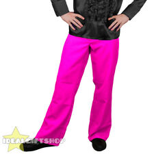 MENS PINK 1970'S DISCO TROUSERS PANTS FANCY DRESS COSTUME FLARES 70'S 1960S 60'S