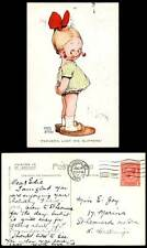 MABEL LUCIE ATTWELL 1923 Old Postcard Farver's Lost His Slippers Little Girl 633
