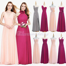 6 Styles Long Chiffon Bridesmaid Dress Party Prom Evening Gown Formal Dresses