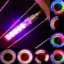 2PCS 5LED Flash Light Bicycle Motorcycle Car Tyre Tire Wheel Valve Lamp +Battery
