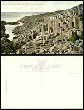 Northern Ireland Lord Antrim's Parlour, Giant's Causeway Co. Antrim Old Postcard