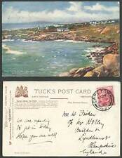 South Africa 1908 Old Tuck Postcard Cape Town BOTANY BAY Queen's Hotel Sea Point