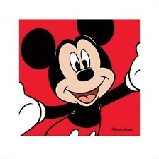 A Very Happy Mickey Walt Disney's Mickey Mouse Kunstdruck 40 x 40 cm