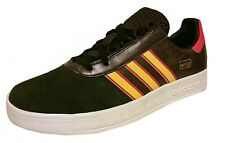 Adidas Mens TRIMM TRAB trainer LEATHER Q23402 UK 10.5,11 Black/Red DEADSTOCK New