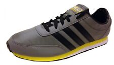 Adidas Mens V Racer Nylon Trainers Q38935 Grey/Black/Yellow UK 7.5,9,9.5,10.5,11