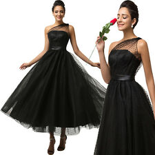 Long Bridesmaid Formal Gowns Ball Party Black Evening Prom MAXI Dress Masquerade