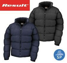 Mens Down Feel Puffer Puffa Autumn Winter Coat Jacket - Water Repellent Outer