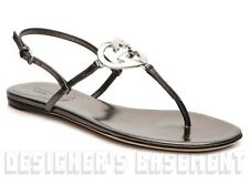 GUCCI pewter nappa Leather LOVELY Interlocking GG HEART Cage sandals NIB Authent