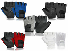 Cycling Weight Lifting Gym Sports Exercise Fitness Gloves Real Genuine Soft Mesh