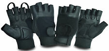 Leather Cut Finger Weight Lifting Gloves Gym Fitness Cycling Sports Bodybuilding
