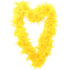 YELLOW 65GR FEATHER BOA FANCY DRESS ACCESSORY HEN NIGHT PARTY GANGSTER FLAPPER
