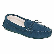 Mens New Navy Blue Real Suede 'Sheridan' Moccasin Slippers UK 6 7 9 10 12 13