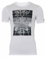 New Nike Court Plays White Mens Basketball T-shirt ALL SIZES