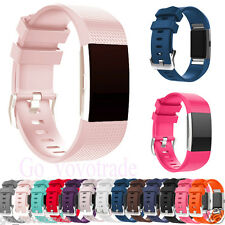 Replacement Watch Band Sports Soft Silicone Bracelet Strap For Fitbit Charge 2