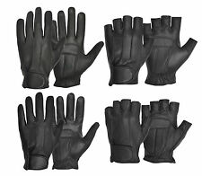 Men's Finger less & Full finger Plain & Perforated chauffeur Retro Driving Glove