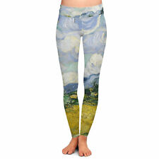 Vincent Van Gogh Fine Art Painting Yoga Leggings Low Rise Full Length XS-3XL