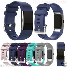 New Fashion Replacement Sports Silicone Bracelet Strap Band for Fitbit Charge 2