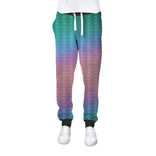 Iridescent Dragon Scales Cuffed Joggers Sweatpants