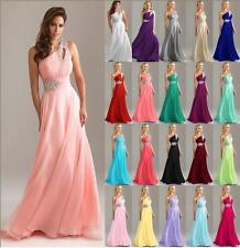 New Long Chiffon Wedding Formal Evening Party Bridesmaid Ball Gown Prom Dress