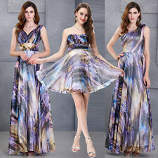 Short/Long Formal Bridesmaid Party Evening Prom Gown Maxi Wedding Cocktail Dress