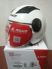 CASCO LS2 JET AIRFLOW SOLID VISIERA LUNGA OF562 BIANCO MOTO SCOOTER TUTTE TAGLIE