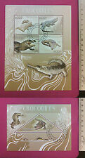 Wild Animal Crocodiles 2014 Congo perf Sheetlet CTO stamped Excellent NH UK