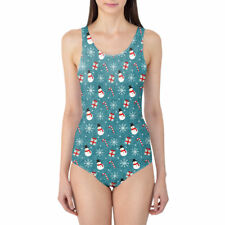 Snowmen and Candy Canes Women's Swimsuit One Piece