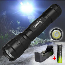 5 Modes XML T6 LED Tactical Flashlight 5000Lm Lamp Torch +18650 Battery +Charger