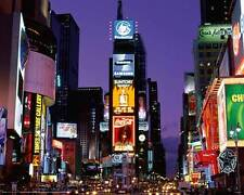New York - Times Square at Night - Stadt Städte City Mini Poster Plakat Druck