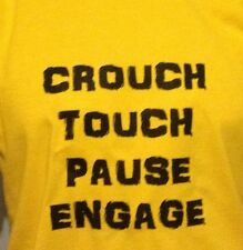 ACCROUPI, TACTILE, PAUSE, s'engager. amusant T-Shirt Rugby, Hommes Femmes