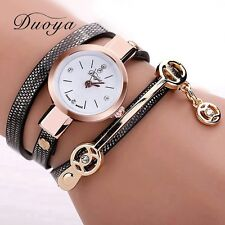 New Duoya Fashion Women Bracelet Watch Gold Quartz Gift Watch Wristwatch Women D